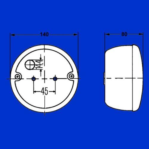 140mm Rücklicht f Fendt 309-930 Farmer 409-412 E12 7146 Favorit 711-926