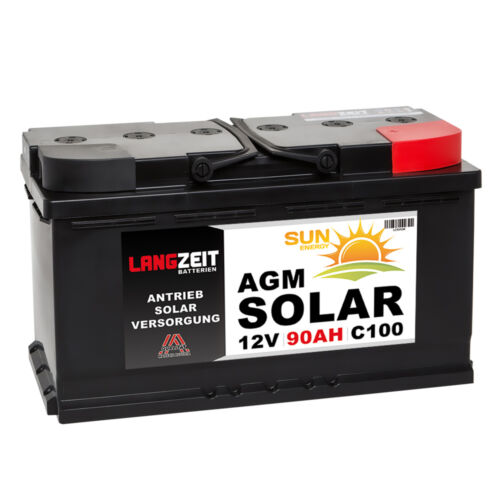 Solarbatterie 12V 90AH AGM GEL Batterie Solar Wohnmobil Boot Versorgung USV