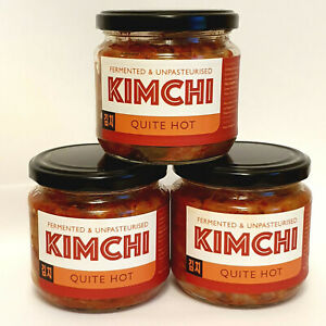 UK Made Kimchi x3 intenso quitehot. 2 * GRANDE GUSTO Award-authentickoreanrecipe