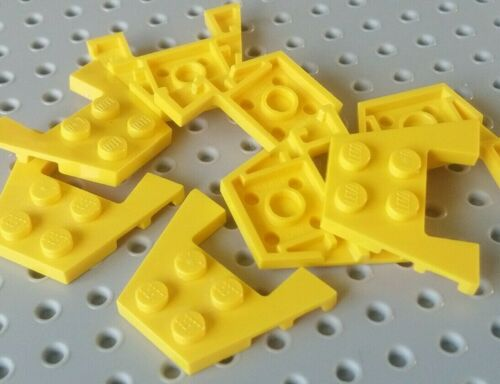 Yellow x8 Lego Wing Double 4x3 with Stud Gaps 90194