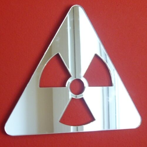 Radiation Symbole Miroirs (3mm Miroir Acrylique, Disponibles) Plusieurs Tailles Disponibles) Acrylique, 4b3e39