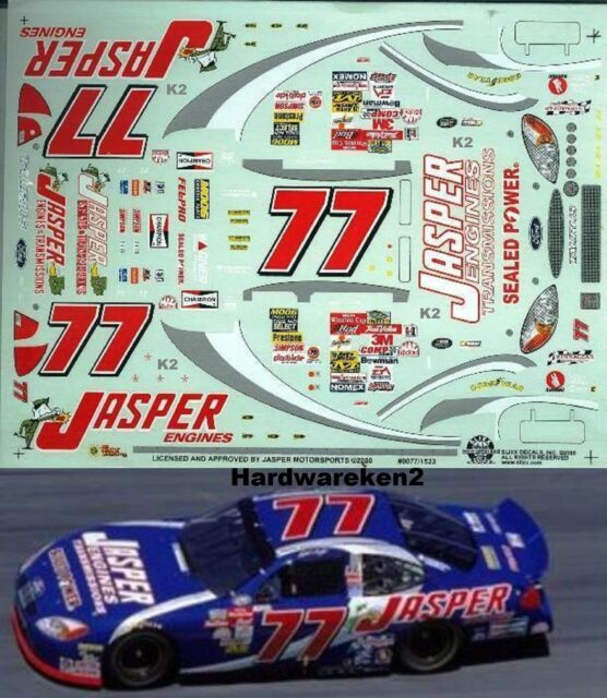 NASCAR Decal #77 Jasper Engines 2000 Ford Taurus Robert Pressley Slixx