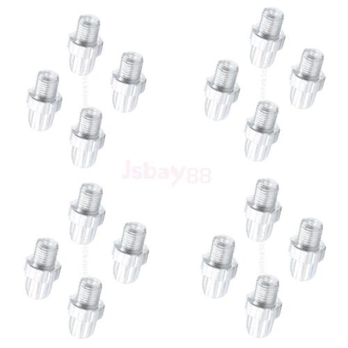 16pcs Cable Adjuster Screw Bike Accessories Silver Cycling Screws 26 x 10mm