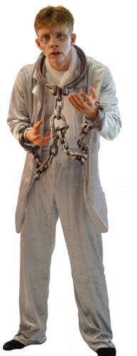 Halloween-Scrooge//Charles Dickens//Natale Marley FANTASMA costume-Men /'s Piccolo 4XL