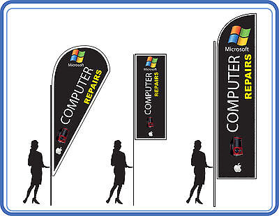 Computer repair flags, great for Tech shops - Flags Banners UK 1 | eBay