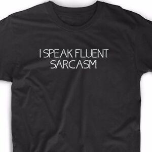 db6934aba I Speak Fluent Sarcasm T Shirt Funny Geek Emo Nerd Vintage Raunchy ...
