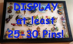 GLASS-FRAME-Display-Case-SHADOW-BOX-Lapel-Pin-Badge-Patch-Medal-Keychains-12-034-x8-034
