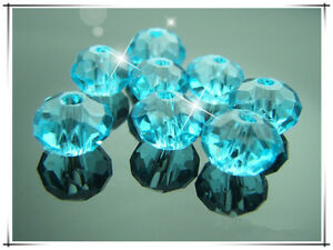 Free-TOP-100PCS-Crystal-5040-Blue-lake-Rondelle-Charms-Spacer-Beads-findings-6mm