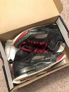 Nike-Air-Jordan-Spizike-OG-Men-s-Size-8-5-Black-Green-Red-315371-026-With-box