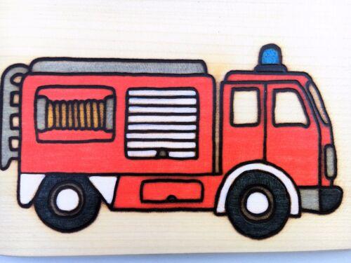 Desayuno brett bomberos madera nombres grabado brett Vesper frühstücksbrettchen nuevo