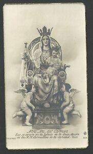 image pieuse ancianne de la Virgen del Carmen holy card santino estampa pwraJVtg-08070547-392293211