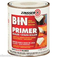 3 Pk Pt White Zinsser B-i-n Stain Blocking Shellac Base Primer Sealer 0908