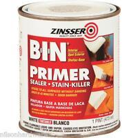 3 Pk Pt White Zinsser B-i-n Stain Blocking Shellac Base Primer Sealer 0908