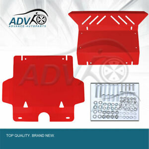 Aftermarket-Bash-Plate-Front-Sump-Guard-for-Toyota-Hilux-2005-2015-Vigo-RED-3mm