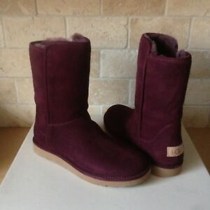 Details about UGG ABREE II SHORT PORT SUEDE SHEARLING ZIP BOOTS SIZE US 6 WOMENS NIB