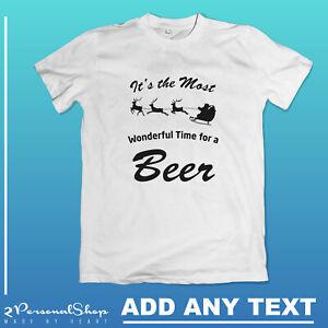 Personalised-Christmas-Funny-T-shirt-Printed-Custom-Text-Women-Men