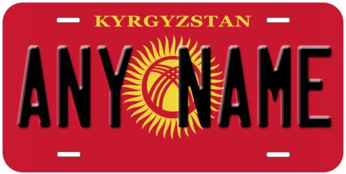 Kyrgyzstan Flag Novelty Car License Plate