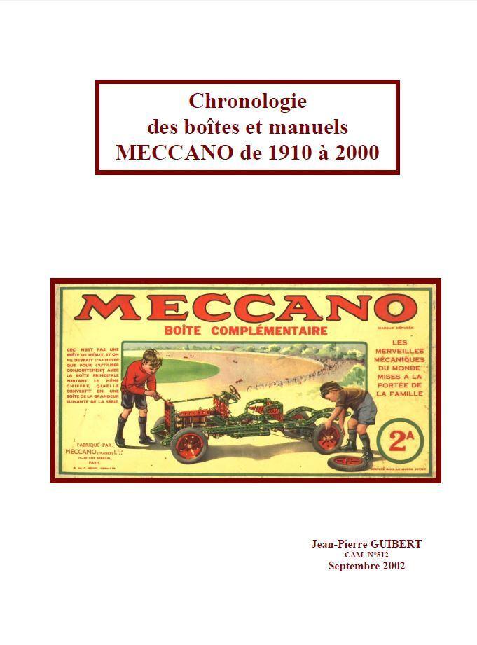 Chronologie Boîtes-manuels Meccano-1910-2000