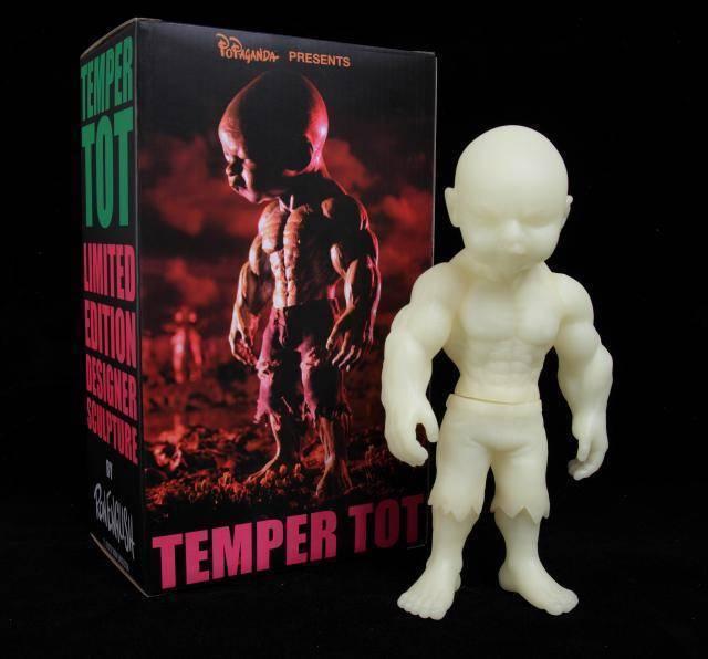 Ron English Temper Tot GID Edition DESIGNER Vinyl Figure Glow in the Dark