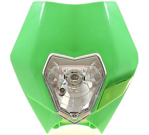 Green  Bike Motorcycle Universal Headlight Headlamp Dirt Bike ATV
