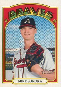 Mike Soroka 2021 MLB Topps Heritage Baseball Base Card #213 Atlanta Braves