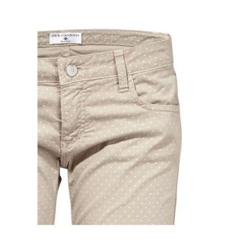 Damen Chinohose Hose Punkte-Muster Jeans Chino Stretch grau 016700