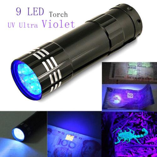 Portable UV Torch Ultra LED Zoom Flashlight Violet Purple Blacklight Lamp BU