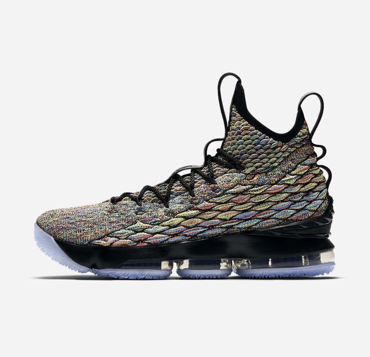 Nike Lebron 15 XV size 16. Black Fruity Pebbles Multi. 4 Horseman. 897648-901.