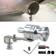 UNIVERSAL TURBO MUFFLER EXHAUST WHISTLE SOUND SIMULATOR BLOW OFF SILVER  PIPE L