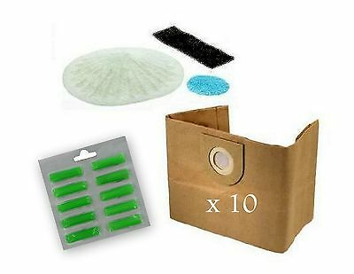 10 Vax 6131 7131 6151SX 5120 8131 Vacuum Dust Bags Air Fresheners Filter Set