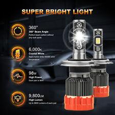 1PC Motorcycle Bike LED Headlight High & Low H4 9003 6000K 49W 4900LM Bulb