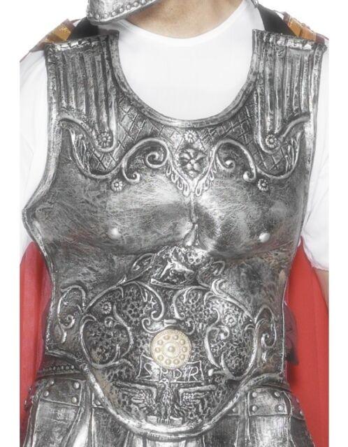Uomo Lusso Latex romano gladiatore costume Armatura Pettorale da Smiffys