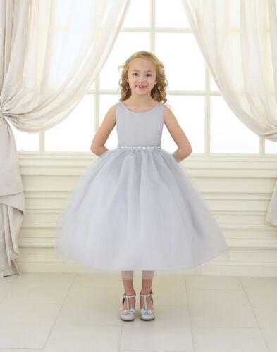 Flower Girls Tulle Dress Rhinestones Party Wedding Easter Kids Size 2-12 New