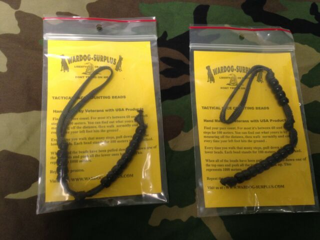 Lot of 2 Tactical Pace Counting Beads for Land Nav Hiking Vet USA MADE Ranger