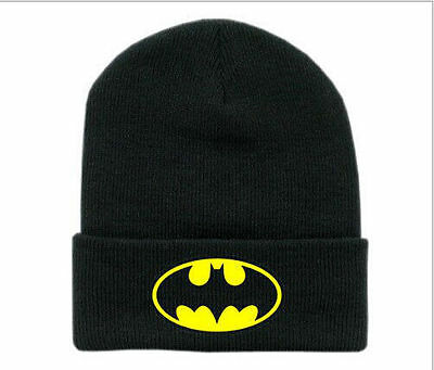 2014 New hot batman beanie hat Cotton knitting wool hip pop ski Unisex warm cap
