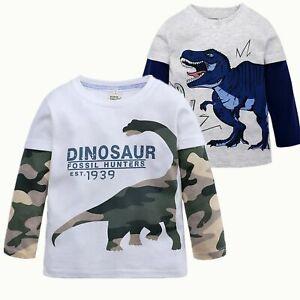 Fashion-Kids-Boys-Long-Sleeve-T-Shirt-Dinosaur-pattern-Shirt-Kids-Clothing