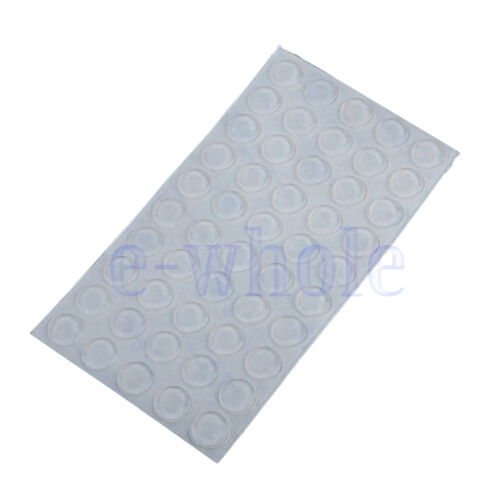 100 Self-Adhesive Rubber Feet Clear Bumper Door Furniture Pad Floor Protector HM