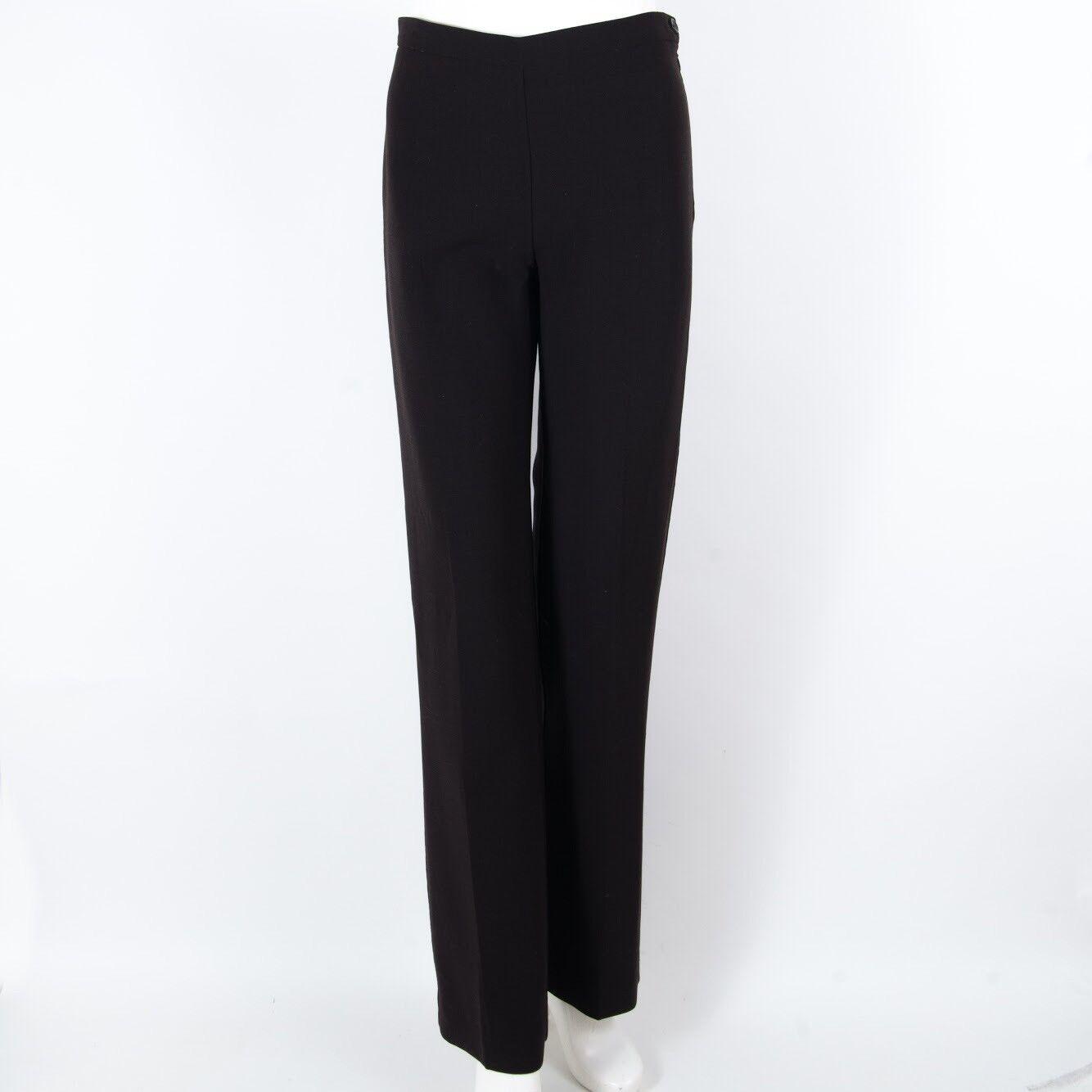 NWT Agnona Pants Dressy Trouser Flat Front Side Zip Dark braun Wool IT 40 US 4