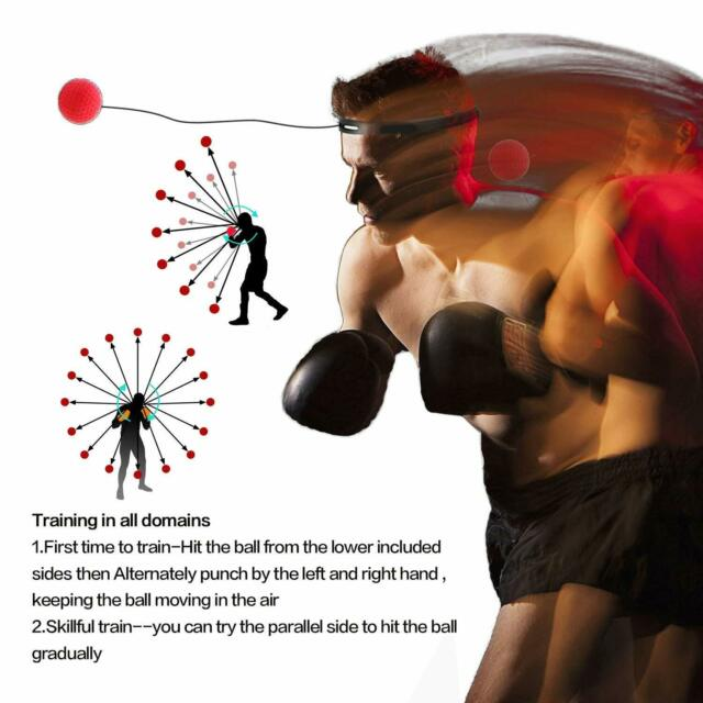 Fight Ball With Head Band For Reflex Speed Training Boxing Punch Exercise US