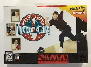 Brunswick-Bowling-Super-Nintendo-SNES-Brand-NEW-Factory-Sealed-First-Print-Color