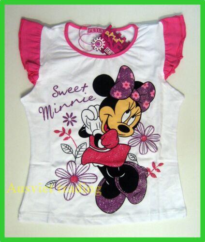 BNWT Minnie Mouse Girls kids cartoon Top T-shirt Tshirt 100/% cotton new release