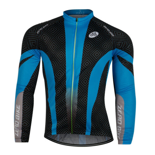 Mens Cycling Clothing Bicycle Jersey Sportswear Long Sleeve Bike Tops Breathable
