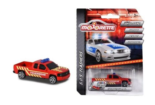Majorette 212056002q02-sos flashers-Chevrolet Silverado-bomberos-nuevo