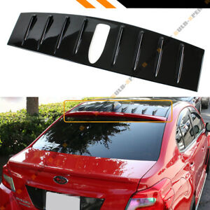 For 15 17 Subaru Wrx Sti Gloss Blk Shark Fin Rear Roof Vortex Generator Spoiler Ebay