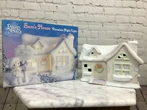Precious-Moments-Sam-s-House-Porcelain-Night-Light-With-Box-Free-Ship