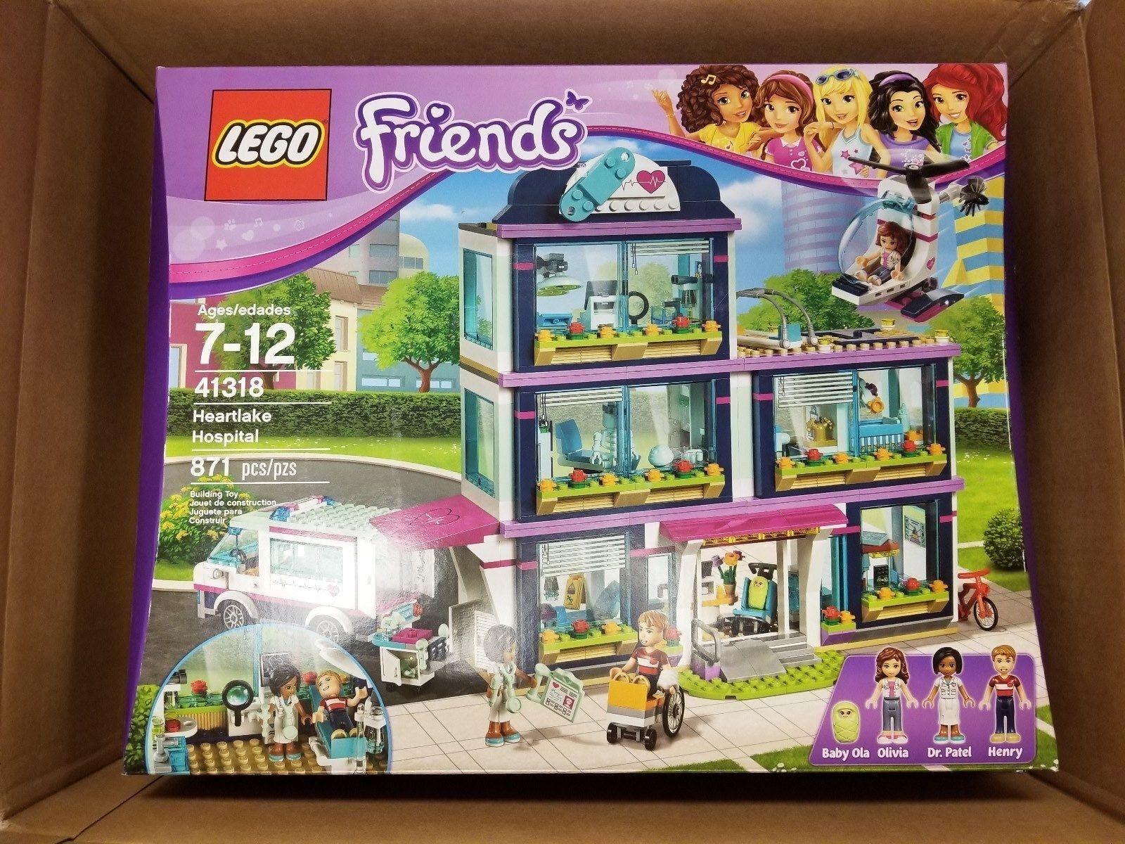 LEGO Friends Heartlake  Hospital (41318) 871 Pcsnouveau In Box Sealed  pas cher et de la mode