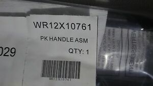WR12X10761Genuine-GE-Pk-Handle-Small-Asm-Bk-NEW-NOS