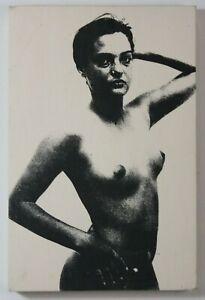 Gudrun Freder donne Portrait halbakt serigrafia addominali firmato datato 1991