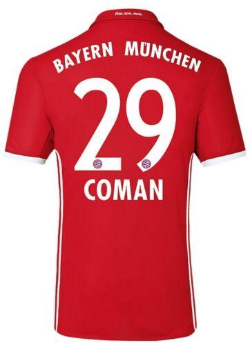 Coman 29 Trikot Adidas FC Bayern 2016-2017 Home FCB 128 bis 3XL