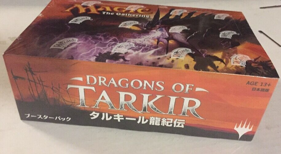 JAPANESE Magic The Gathering Dragons Of Tarkir Sealed Booster Box For Card Game